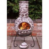 Gardeco Mexican Cantera Chimenea and Stand - 110cm